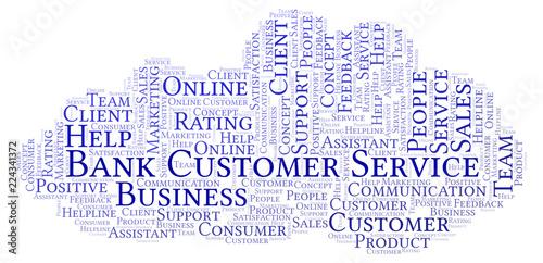 Bank Customer Service word cloud.