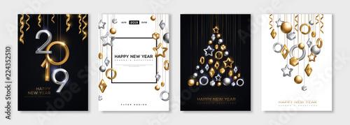 Fotografie, Tablou New Year posters set