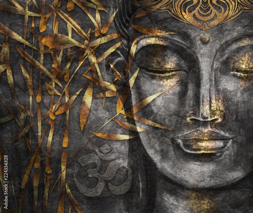 Obraz na płótnie Head Smiling Buddha