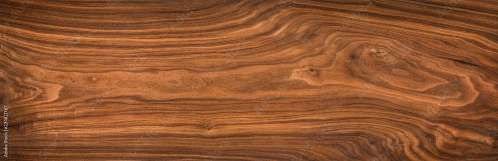 Super long walnut planks texture background.Walnut wood texture.Texture element