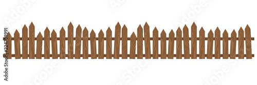 Fotografie, Obraz Beautiful brown wooden fence