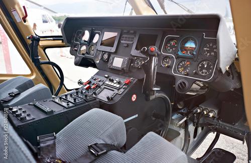 Cockpit helicopter pilot dashboard