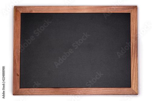 Fotomural Empty chalk board background. Blank blackboard with wooden frame.