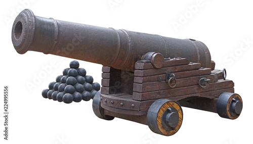 Fotografia Old ship cannon
