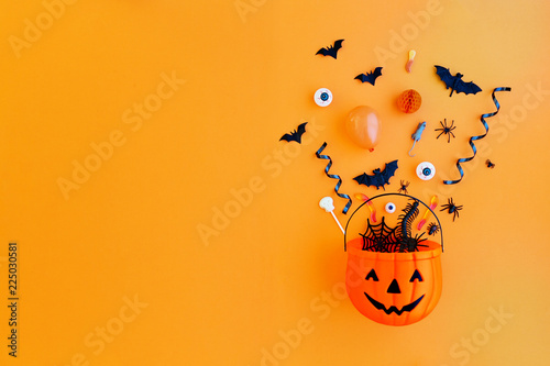 Pumpkin with Halloween objects