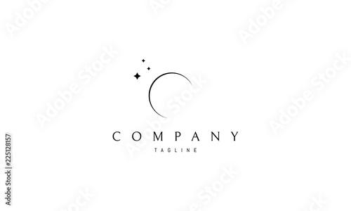 Fényképezés Moon vector logo image