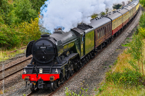 Carta da parati Flying Scotsman steam train