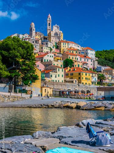 Obraz na plátně View of Cervo in the province of Imperia, Liguria, Italy