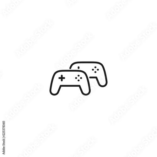 line multiplayer game icon on white background Fototapeta