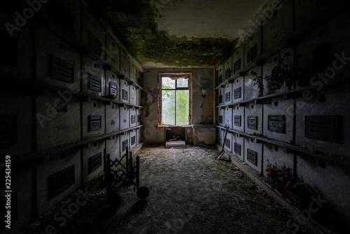 Canvas-taulu Abandoned Mausoleum - Providence, Rhode Island