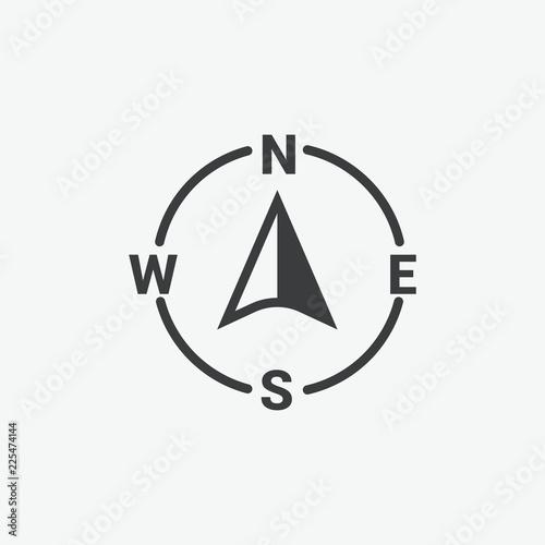 Fototapeta Compass Vector Icon