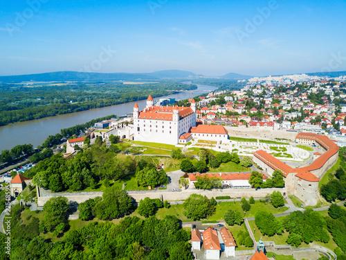 Wallpaper Mural Bratislava aerial panoramic view