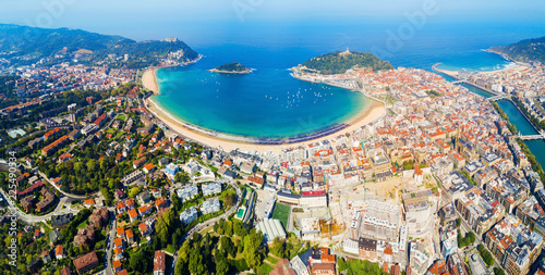Canvas San Sebastian aerial panoramic view