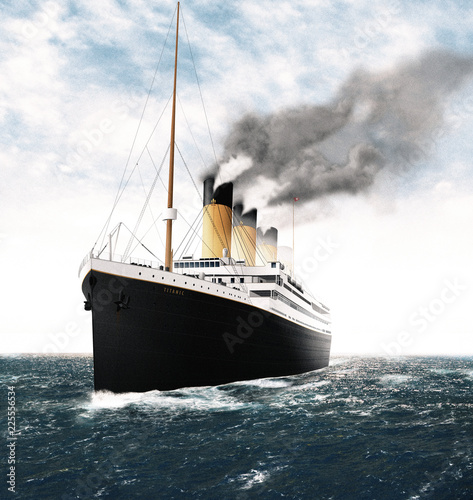 Photo Illustration of the Titanic in the Sea during the Day