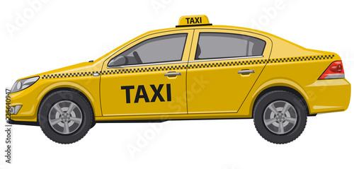 taxi car auto sedan Fotobehang
