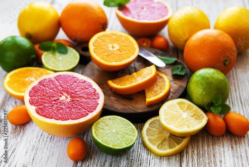 Leinwand Poster citrus fresh fruits