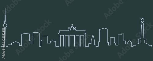 Fototapeta premium Berlin Linia pojedyncza Skyline