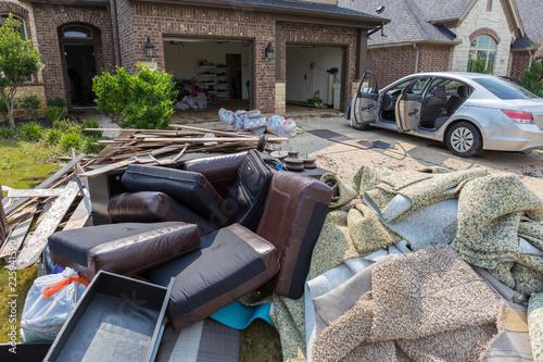 Fototapeta Life after devastating floods