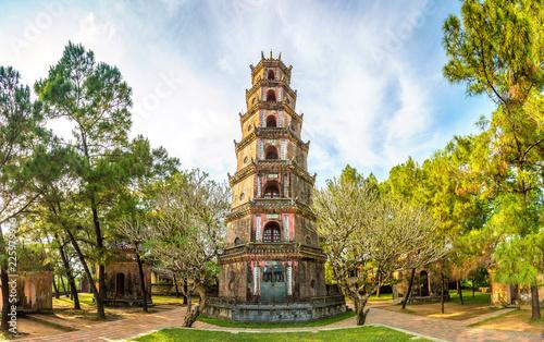 Fotografie, Obraz Thien Mu Pagoda in Hue, Vietnam
