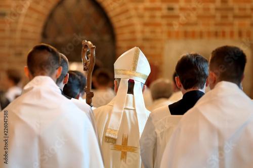 Fotografia, Obraz Bishop goes to Mass in the church