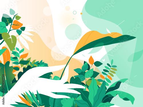 Green Paradisegarden Fototapeta