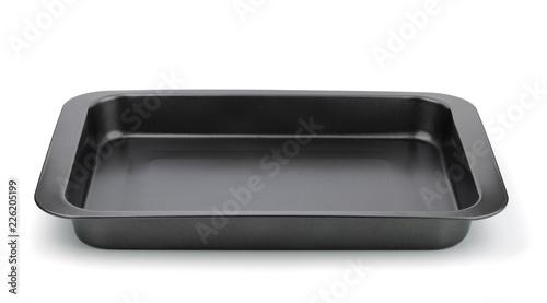 Black nonstick metal baking tray