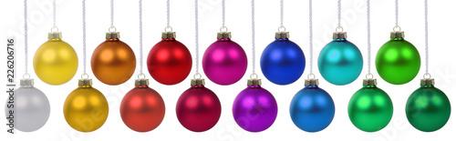 Fotografia Weihnachten Weihnachtskugeln Banner Weihnachts Farben Kugeln Dekoration hängen F