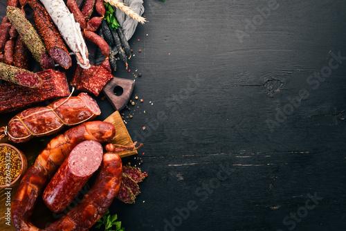 Wallpaper Mural Assortment of salami and snacks