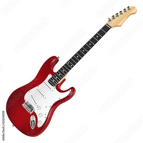Wallpaper Mural Red electric guitar, classic.