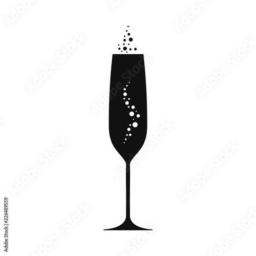 Canvas Print Champagne goblet illustration. Vecor.