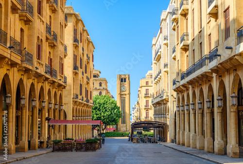 Fototapeta premium Bejrut Liban ulice centrum Bejrutu