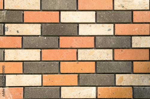 Fotografie, Obraz Facade with decorative tuff imitating  bricks
