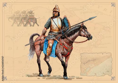Fotografering Carthaginian horseman