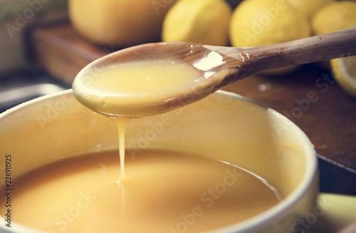 Fotografie, Tablou Lemon curd food photography recipe idea