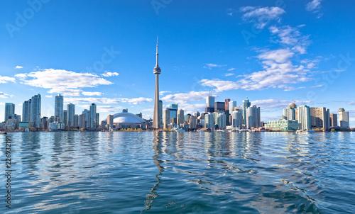 Canvas Print Skyline of Toronto with CN tower Ontario Canada