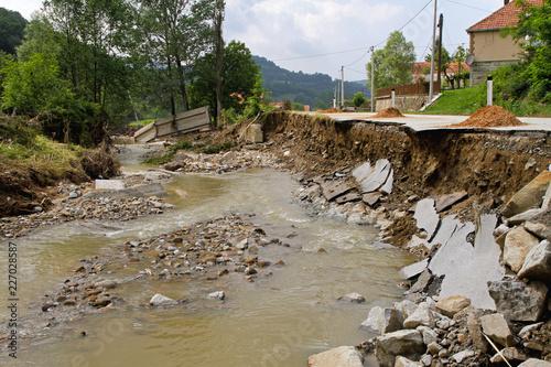 Fototapeta River Destruction Floods