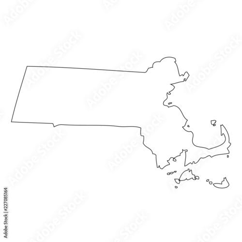 Fototapeta Massachusetts - map state of USA