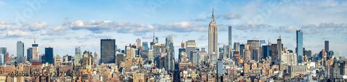 Billede på lærred New York Skyline Panorama mit Empire State Building, USA