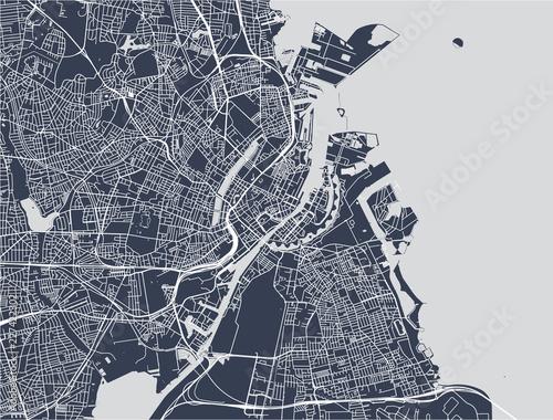 Wallpaper Mural map of the city of Copenhagen, Denmark