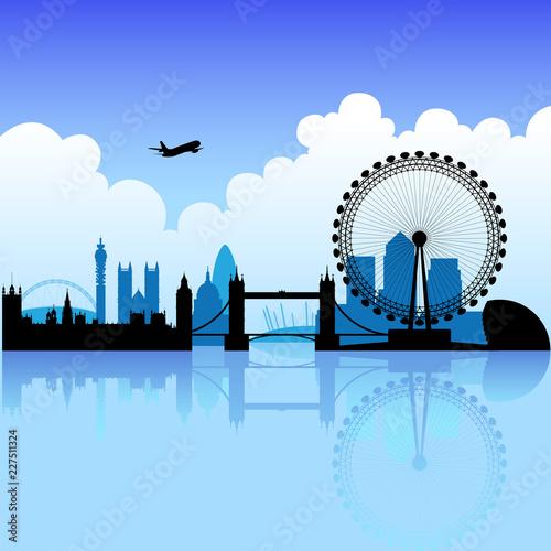 фотография London on a bright day with blue sky