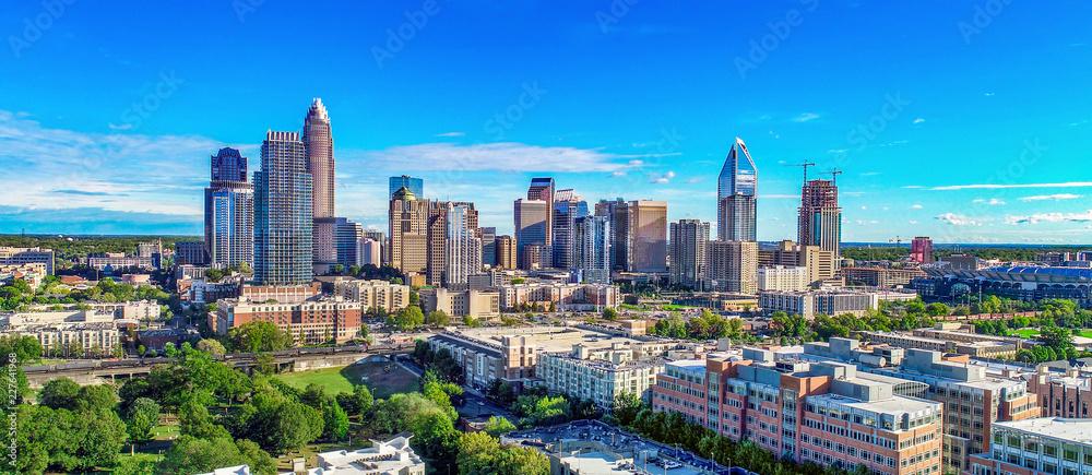Charlotte, North Carolina, USA Skyline Aerial