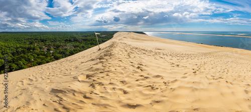 Obraz na płótnie Panorama of the Pyla sand dune in France
