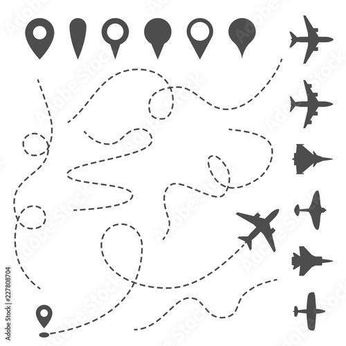 Fotografie, Obraz Plane line path