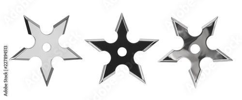 Fotografie, Obraz Set of ninja star shurikens