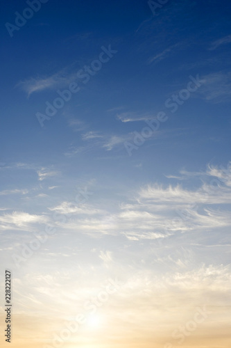 Morning sky with the clouds.