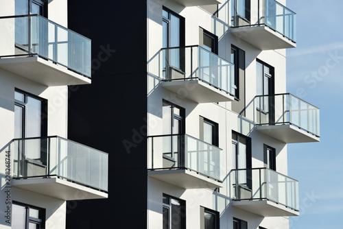 Valokuvatapetti Balconies at modern architecture