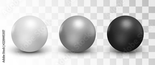 Slika na platnu Set of vector spheres and balls on a white background