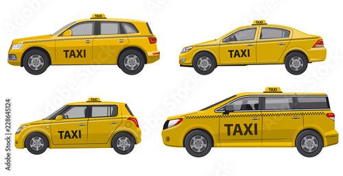 Canvas Print taxi service cars