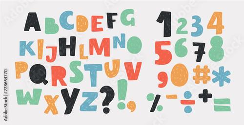 Fotografia Bright alphabet set.