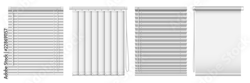 Fotografie, Tablou Set of horizontal and vertical window blinds